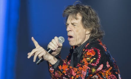 Mick Jagger performing during the Rolling Stones' 2017 European tour.