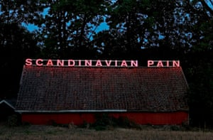 The neon sculpture Scandinavian Pain , 2006-2012.