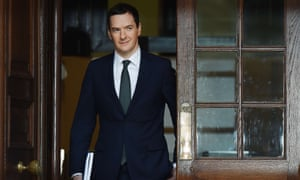 Chancellor of the Exchequer George Osborne leaves the Treasury in London