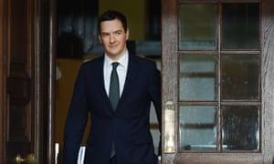 The British chancellor George Osborne.