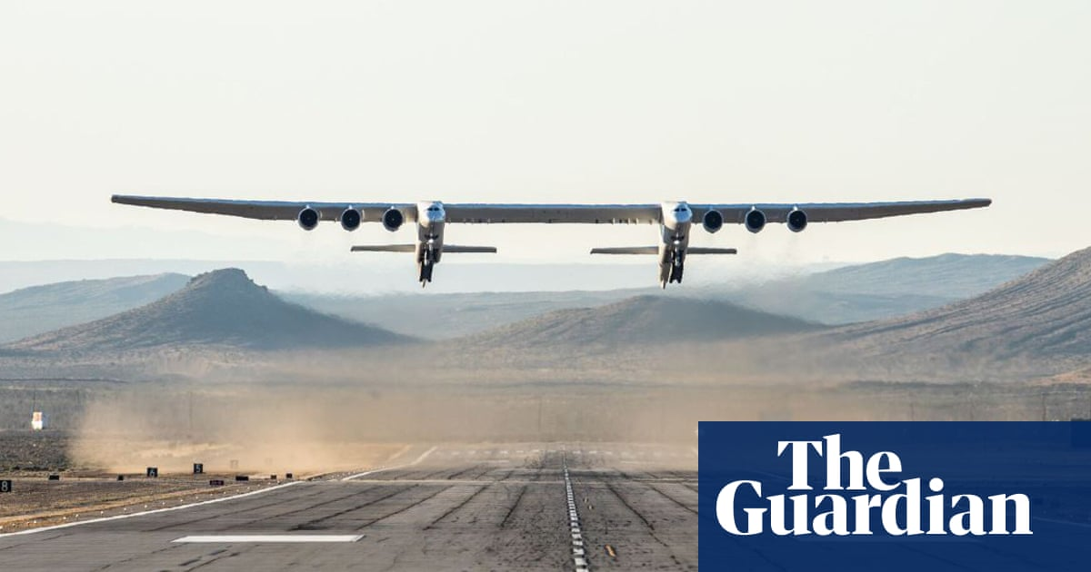 Plane with world's longest wingspan takes off and