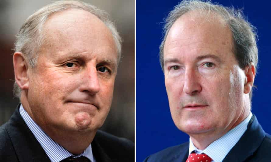Paul Dacre, right, and Charles Moore are tipped for senior positions at UK's public broadcaster and the media regulator, Ofcom.