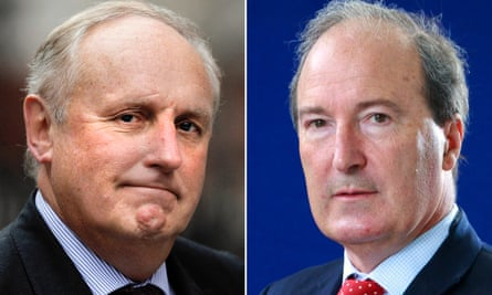 Paul Dacre and Charles Moore.