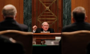 Senator Carl Levin questions witnesses during a hearing on the role of bank regulators in the financial crisis in 2010.