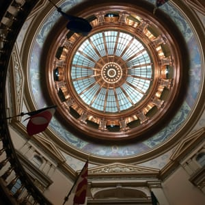 The Kansas state capitol in Topeka has just undergone a $325m facelift – but the rest of the state is out of money.