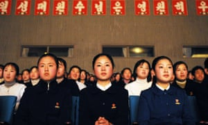 North Korean pupils at a talent school that drills children to sing praise to the regime.