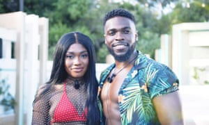 Not just a good-looking couple ... Leanne Amaning and Mike Boateng on Love Island.