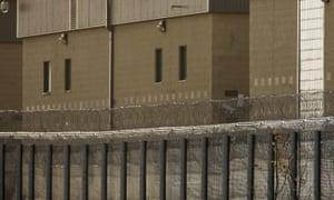 Harmondsworth immigration detention centre, west London.