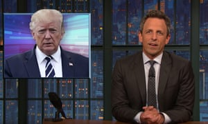 Seth Meyers: 'I would say that lying for him is as natural as breathing but he's not great at breathing either.'