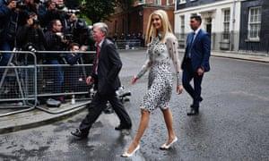 Ivanka Trump, with John Bolton, at Downing Street.