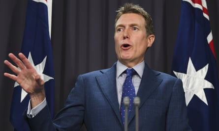 Australian attorney-general Christian Porter announcing the proposed federal corruption body earlier this week