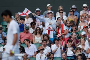 England fans in the crowd.