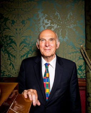 Vince Cable. Photographed at the National Liberal Club, London. Photograph by David Levene. London 13/7/17