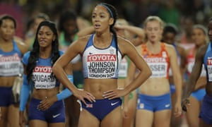 Katarina Johnson-Thompson finished fifth in the heptathlon, having bid farewell to her medal hopes with her collapse in the high jump on the first day.