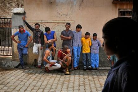 Boys in Haryana state, India
