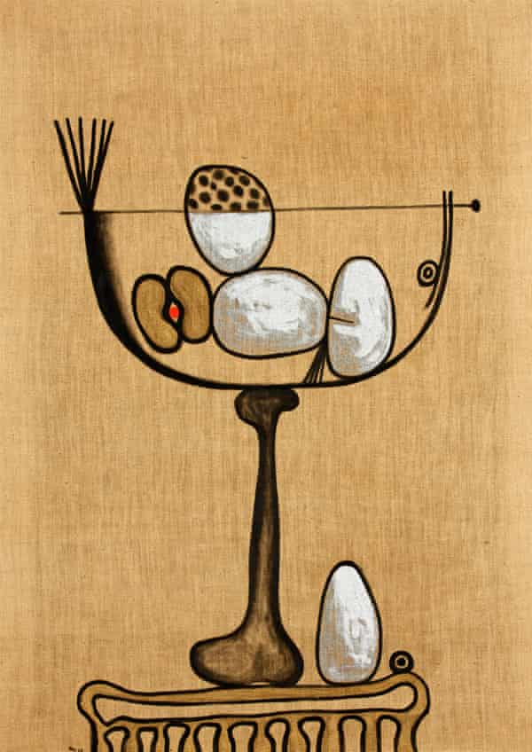 The Mysterious Gift, 1965, by Desmond Morris (H 99cm x W 70.7cm).