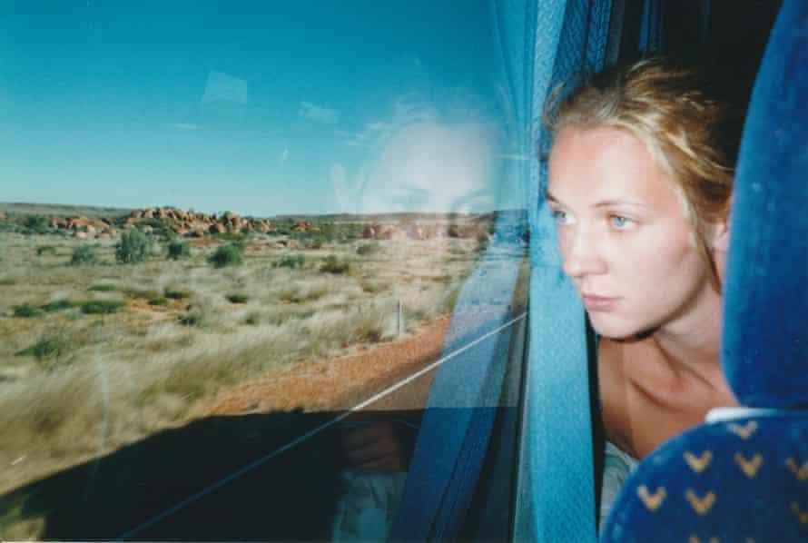 Caroline Riches on a bus journey through central Australia