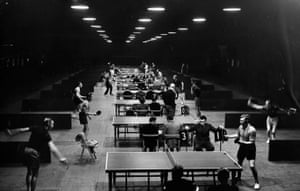 The 21st world table tennis championships being held at the Empire Pool, Wembley, 5 April 1954