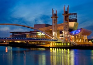 The Lowry Centre and Lowry Outlet Mall at Salford Quays, Greater Manchester