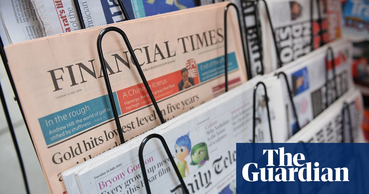 UK newspaper industry demands levy on tech firms | Media | The Guardian