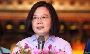 Taiwan president Tsai Ing-wen will meet Alex Azar.