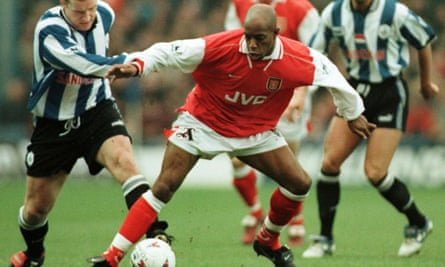 Playing for Arsenal in 1997.