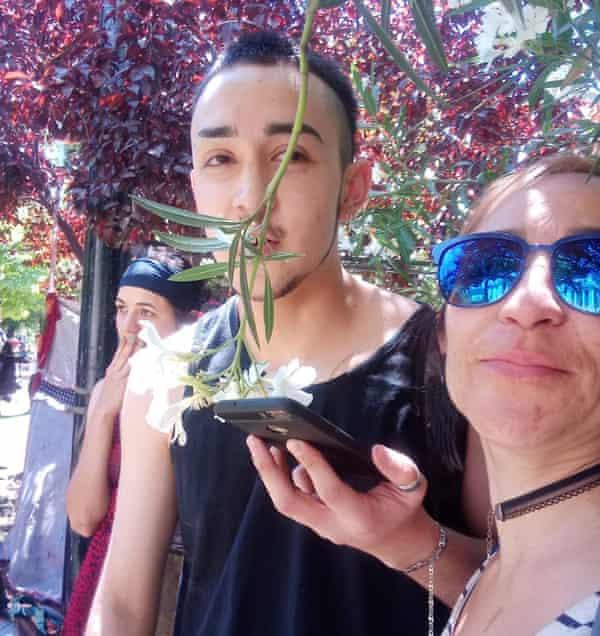 Damian Toro y su madre Cristina Navarrete.