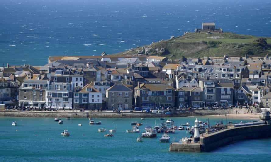 A general view shows St Ives harbour, near the Carbis Bay hotel resort, where an in-person G7 summit of global leaders is due to take place in June
