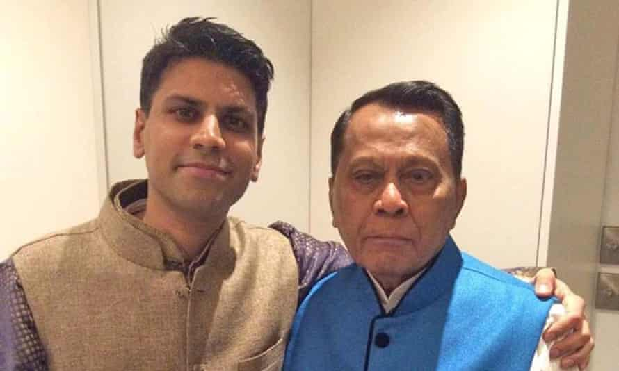 Minesh Talati with his father Navin, who died in April: 'He was one of the most kindly, spirited people I've met'.