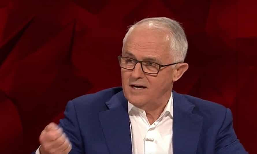 Malcolm Turnbull on Q&A on Monday