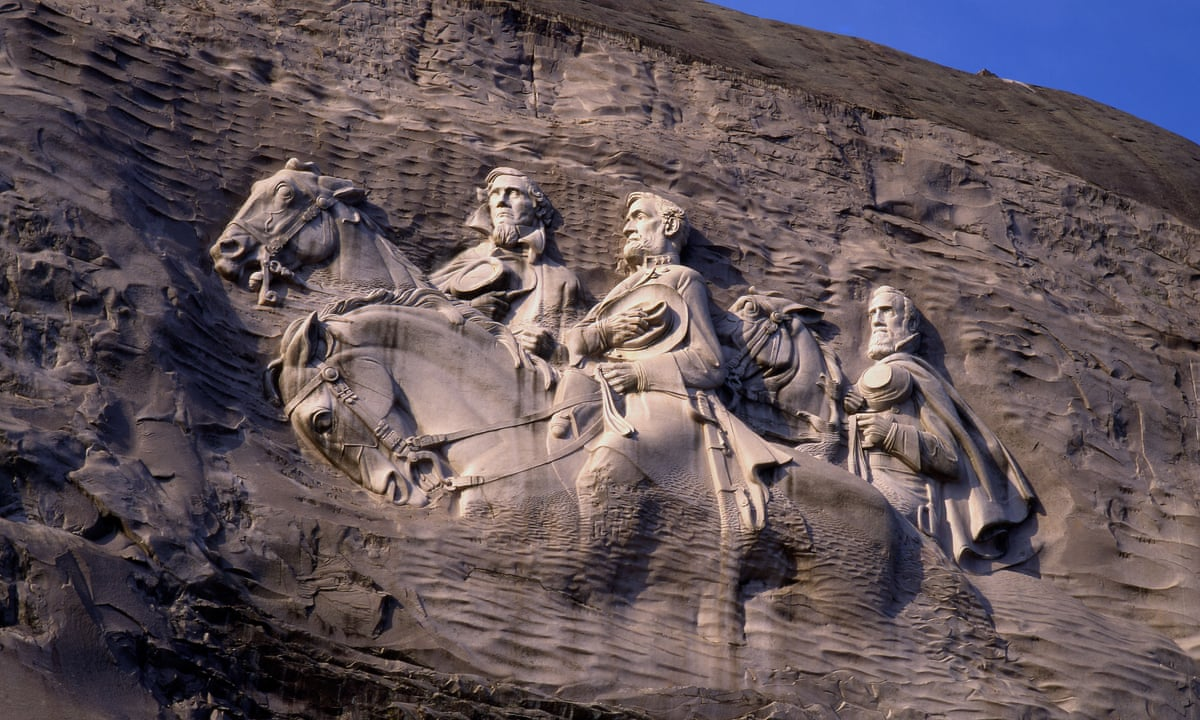 Stone mountain monument at center of racial tension over