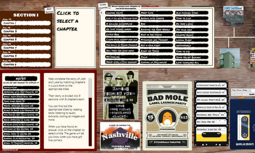 Country-music detective game ... Rivals.