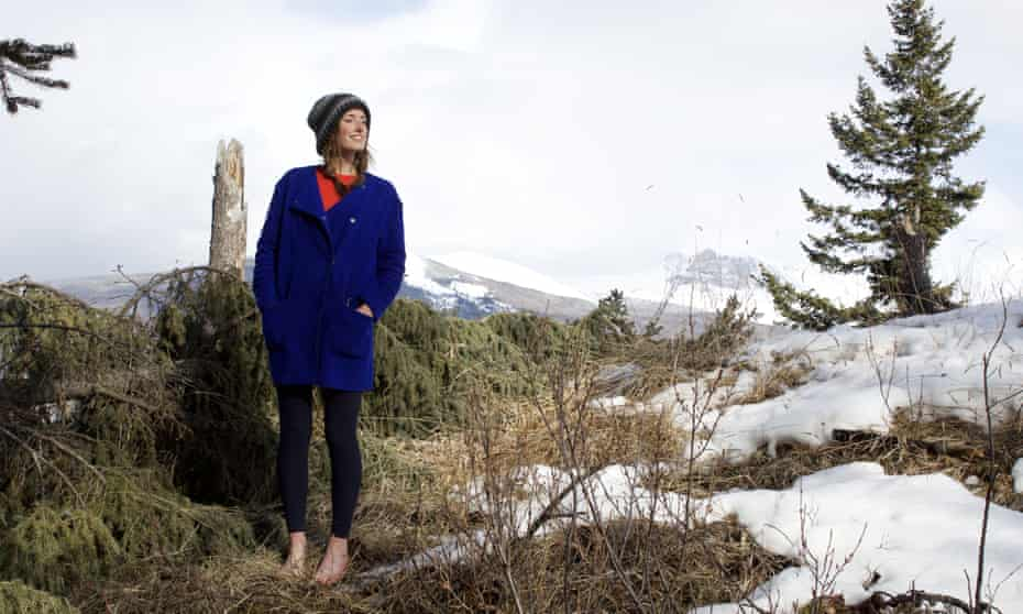 Bare necessity ... Ailsa Ross on a footwear-free walk near Banff, Alberta