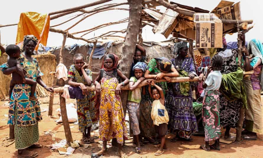 Internally displaced people at Sebu refugee camp in Bamako, Mali.