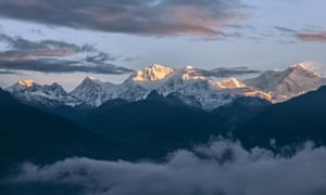 Mount Kanchenjunga, the third highest mountain in the world.