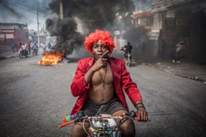 Port-au-Prince, Haiti. Several thousand people protest against Jovenel Moïse, saying the government is trying to establish a new dictatorship and denouncing international support for the president
