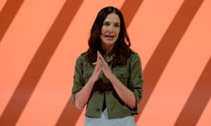 Jade Raymond, vice president of GM Motive Studios/Visceral Games, speaks during EA's news conference.