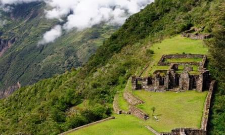 Inca ruins of Choquequirao, Peru.