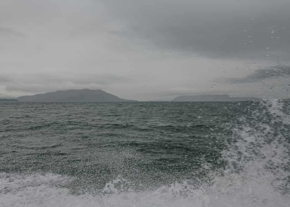 The cold, grey waters of the Puget Sound.