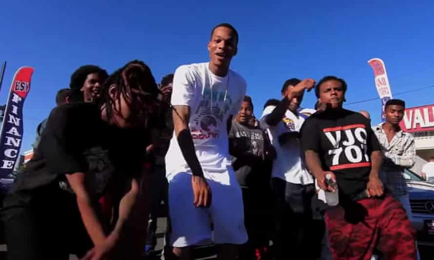 Lil Yase, center, in a screen grab from his music video for Get It In (Remix).