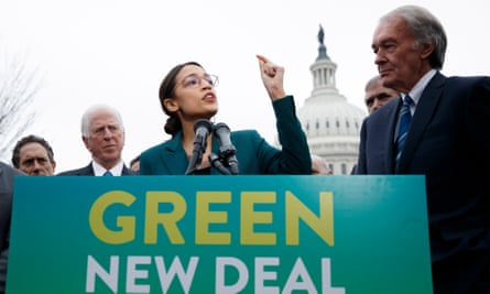 Alexandria Ocasio-Cortez and Ed Markey introduce their Green New Deal resolution.