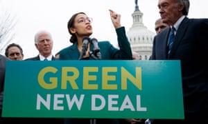 Alexandria Ocasio-Cortez and Ed Markey introduce their Green New Deal resolution