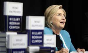 HIllary Clinton signs copies of her book in New York.