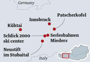 Innsbruck ski map