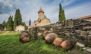 Qvevri at Ikaltho Monastery in Georgia