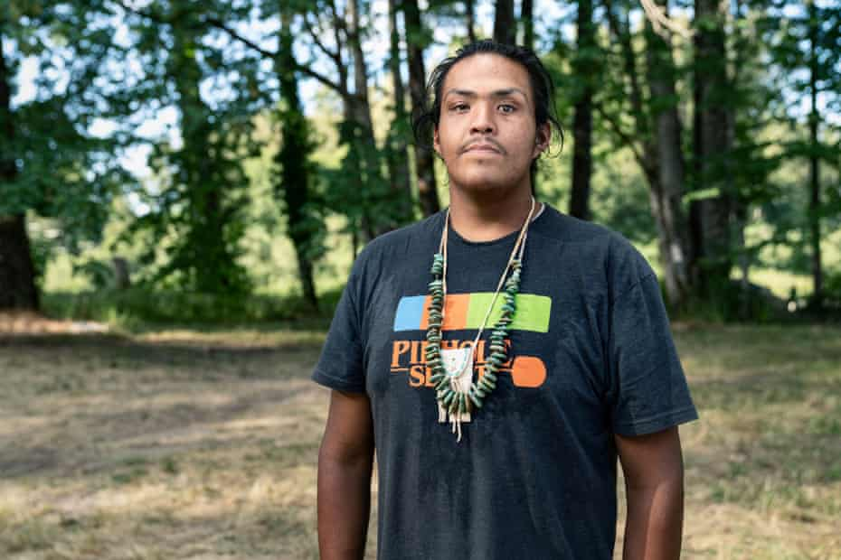 Marcus Mitchell, a Standing Rock activist, lost all five senses on the left side of his face after a sheriff's deputy shot him with a bean bag pellet.