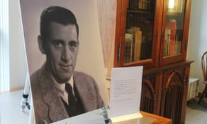 a previously unseen photo of JD Salinger on display at the University of New Hampshire.