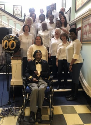 Oswald Dixon celebrates his 100th birthday