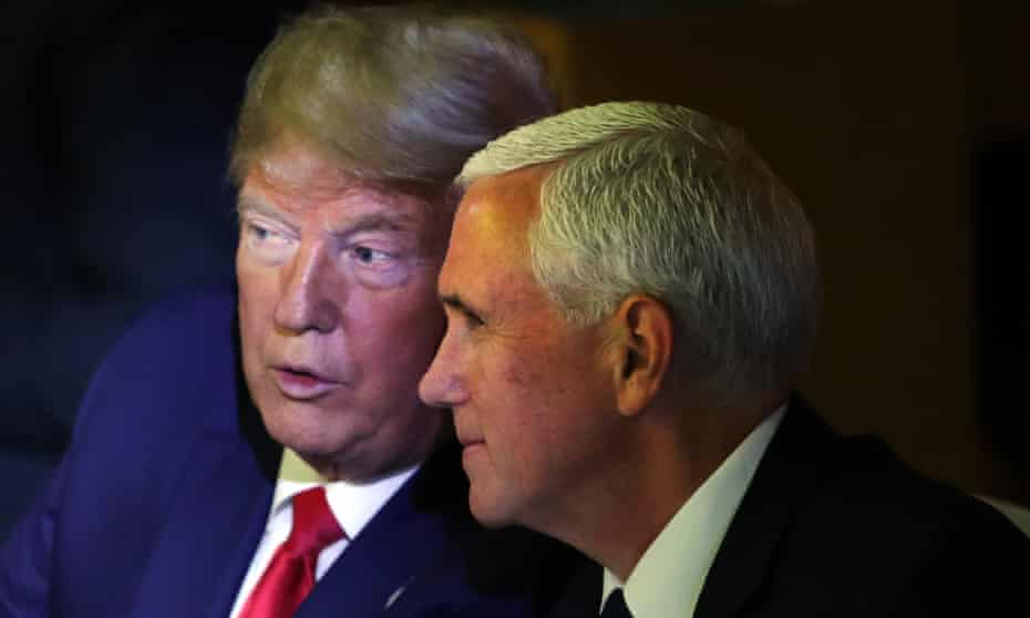 Donald Trump and Mike Pence at the UN in New York this week.