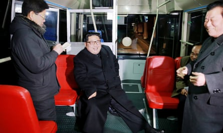 Kim Jong-un in an undated image. Pyongyang claimed Trump's speech revealed a 'sinister intention'.